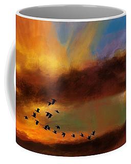 Fire Sky And Geese  Coffee Mug