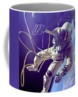First American Walking In Space, Edward Coffee Mug