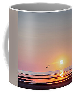 First Encounter Beach Cape Cod Square Coffee Mug