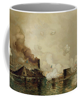 First Fight Between Ironclads Coffee Mug