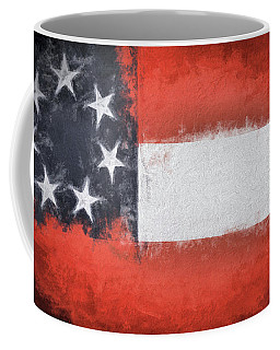 Coffee Mug featuring the digital art First Flag Of The Confederacy by JC Findley