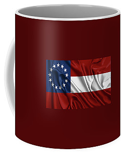 First Flag Of The Confederate States Of America - Stars And Bars 1861-1863 Coffee Mug