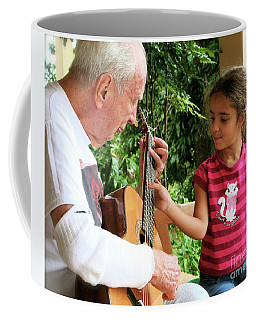First Guitar Lesson Coffee Mug by The Art of Alice Terrill