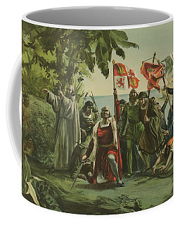 First Landing Of Columbus On The Shores Of The New World Coffee Mug