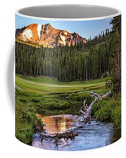 First Light On Lassen From Upper Meadow Coffee Mug