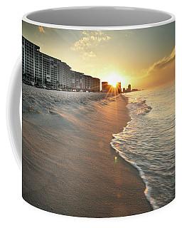 Coffee Mug featuring the photograph First Light On Orange Beach by Greg Mimbs