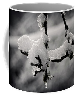 Coffee Mug featuring the photograph First Snow - 365-283 by Inge Riis McDonald