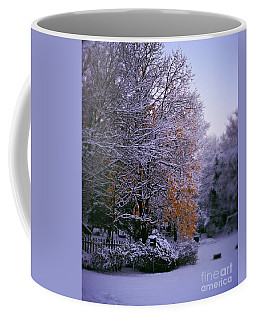 First Snow After Autumn Coffee Mug