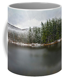 First Snow At Lake Nawahunta Coffee Mug