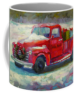 Coffee Mug featuring the painting First Snow by Chris Brandley