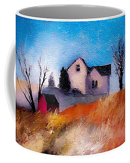 First Snow Farm House And Barns Coffee Mug