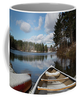First Snow On Vermont Pond Coffee Mug