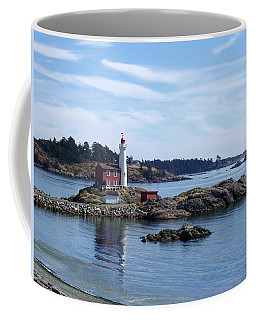 Fisgard Lighthouse Shoreline Coffee Mug by Marilyn Wilson