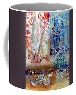 Coffee Mug featuring the mixed media Fish Collage #1 by Rose Legge