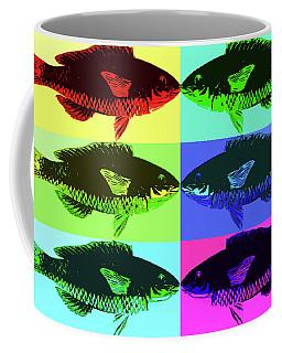 Fish Dinner Pop Art Coffee Mug by Nancy Merkle