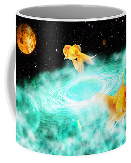 Coffee Mug featuring the digital art Zen Fish Dream by Olga Hamilton