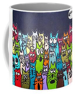 Fish Moon Cats Coffee Mug