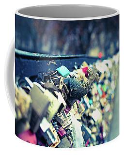 Fish Out Of Water - Pont Des Arts Love Locks - Paris Photography Coffee Mug