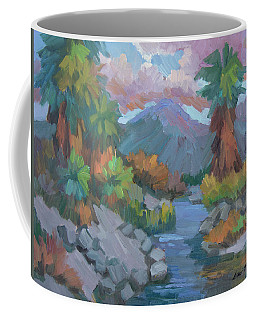 Coffee Mug featuring the painting Fish Trap Indian Canyon by Diane McClary