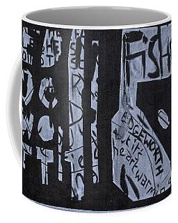 Fisher Covers White On Black Coffee Mug