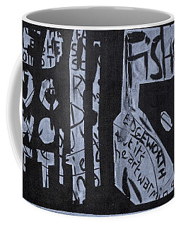Fisher Covers White On Black Coffee Mug