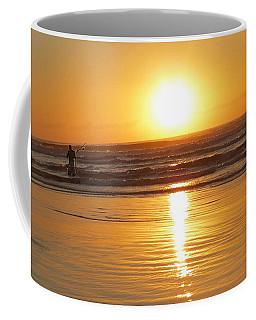 Fisherman At Sunrise Coffee Mug
