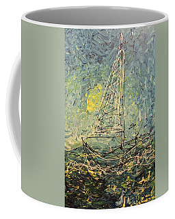 Coffee Mug featuring the painting Fisherman by Blake Emory
