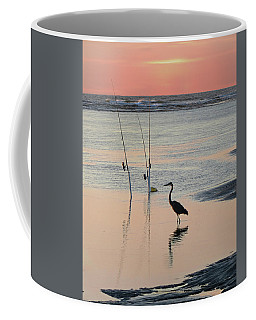 Fisherman Heron Coffee Mug by Deborah Smith
