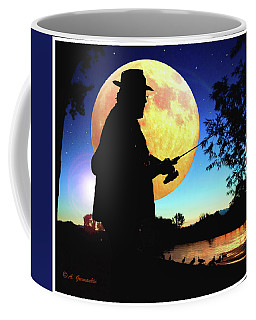Fisherman In The Moolight Coffee Mug