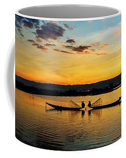 Fisherman On Their Boat Coffee Mug