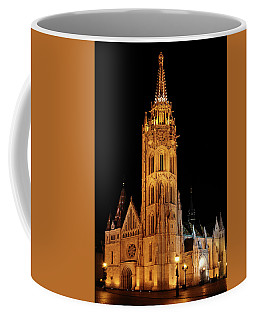 Coffee Mug featuring the digital art  Fishermans Bastion - Budapest by Pat Speirs