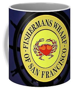 Fishermans Wharf Sign At Night Coffee Mug