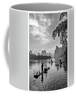Fishermen At Dawn. Coffee Mug