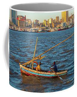 Fishermen Rowing Near Maputo Coffee Mug