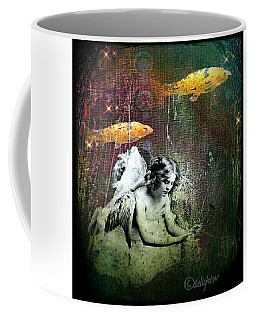 Coffee Mug featuring the digital art Fishes Wings by Delight Worthyn