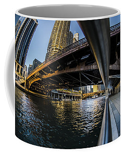 Fisheye View From The Chicago Riverwalk Coffee Mug
