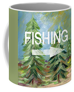 Fishing- Art By Linda Woods Coffee Mug