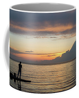 Fishing At Sunset Coffee Mug