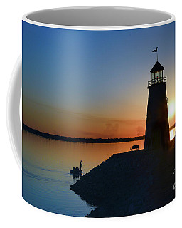 Fishing At The Lighthouse Coffee Mug