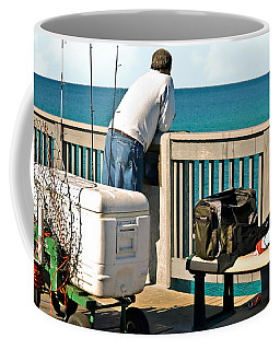 Fishing At The Pier Coffee Mug