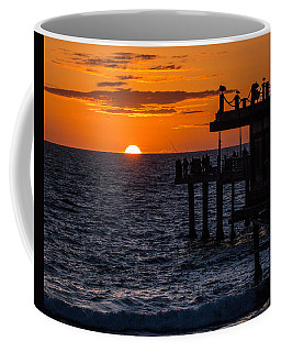 Fishing At Twilight Coffee Mug by Ed Clark