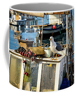Fishing Boat Captain Seagull - Rovinj, Croatia Coffee Mug