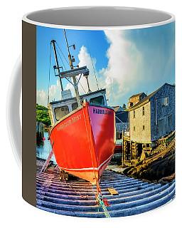 Fishing Boat Harbour Mist, Peggys Cove Coffee Mug by Ken Morris