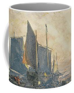 Fishing Boats At Anchor   Sunset Coffee Mug