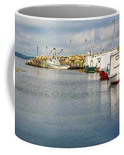 Fishing Boats At Feltzen South Coffee Mug by Ken Morris
