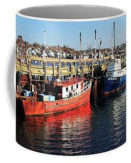 Fishing Boats At Provincetown Wharf Coffee Mug
