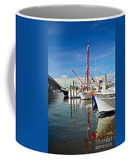 Fishing Boats Coffee Mug by Debbie Green