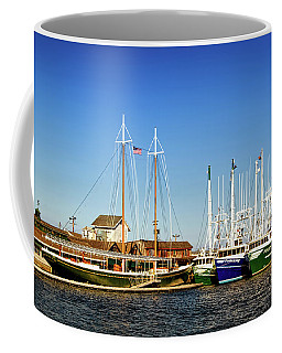 Fishing Boats In Cape May Harbor Coffee Mug
