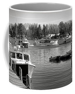 Coffee Mug featuring the photograph Fishing Boats In Friendship Harbor In Winter by Olivier Le Queinec