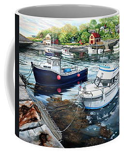 Fishing Boats In Lanes Cove Gloucester Ma Coffee Mug by Eileen Patten Oliver